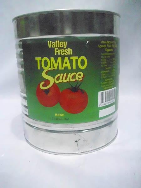 Valley Fresh Tomato Sauce 3ltrs