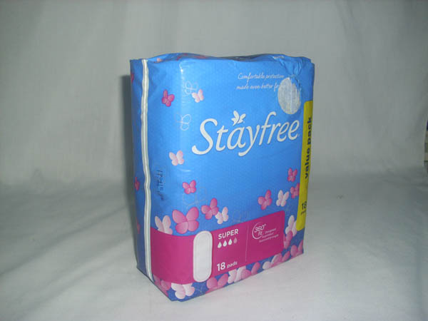 Stayfree Sanitary Pads - Super With Wings 18s