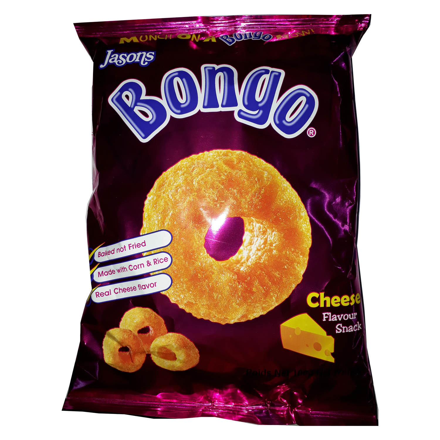 Jasons Bongo Snacks - Cheese 100g