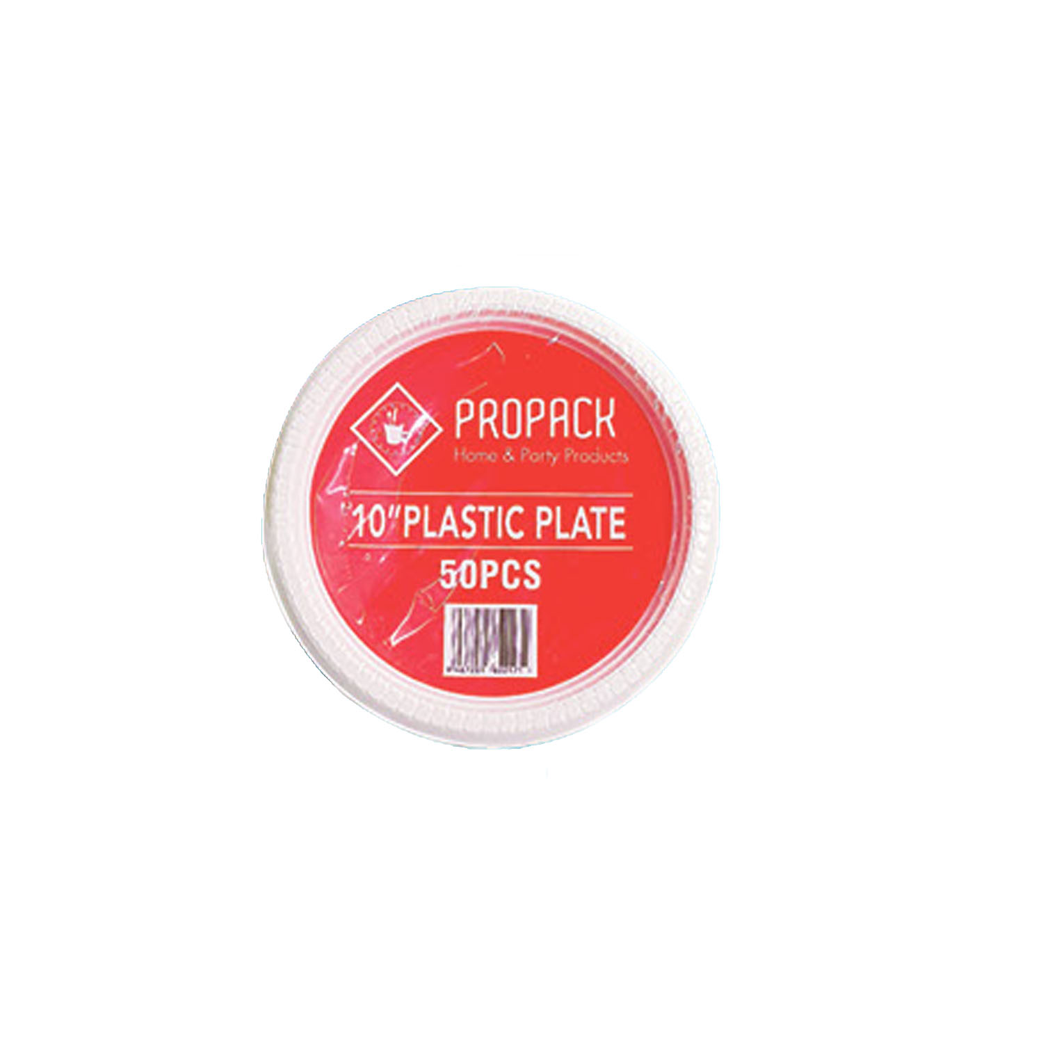 Propack 10inch Plastic Plate 50s