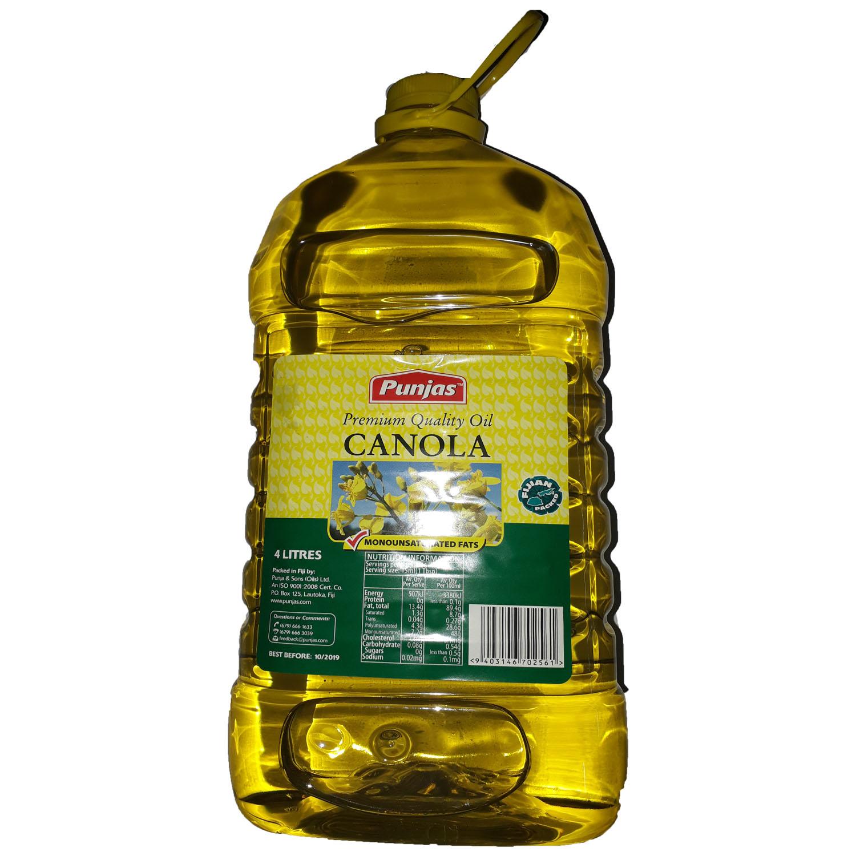 Punjas Canola Oil 4ltrs