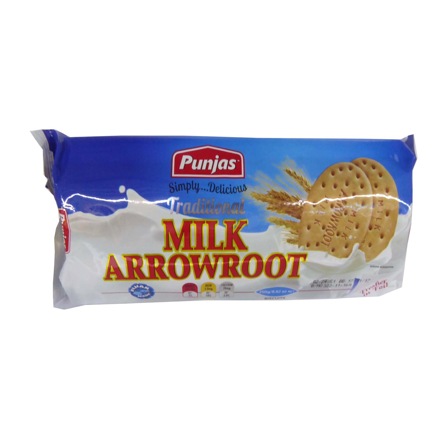 Punjas Milk Arrowroot Biscuit 250g