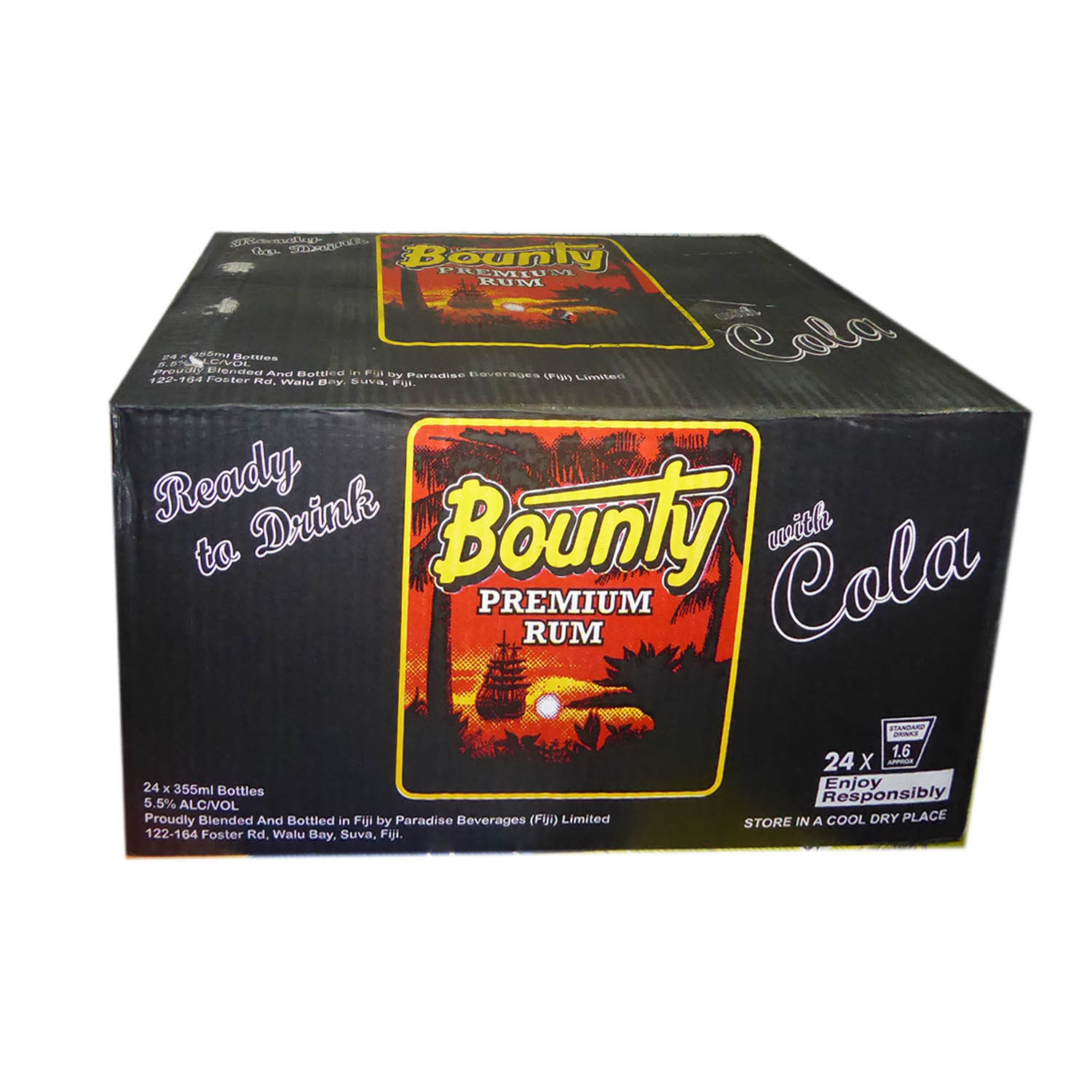 Bounty Rum N Cola CTN 24x355ml