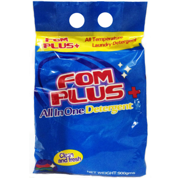 FOM Plus + Detergent Powder 900g