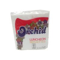 Orchid Serviettes Plain 100's