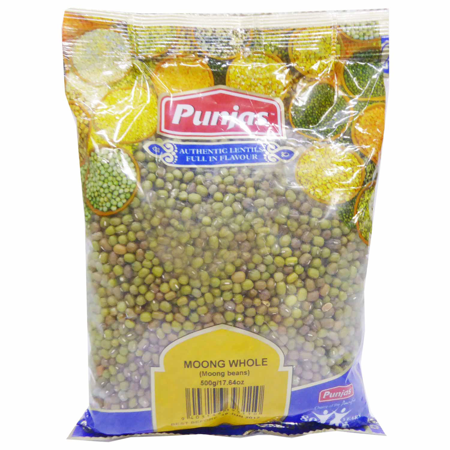 Punjas Moong Dhal (Whole) 500g