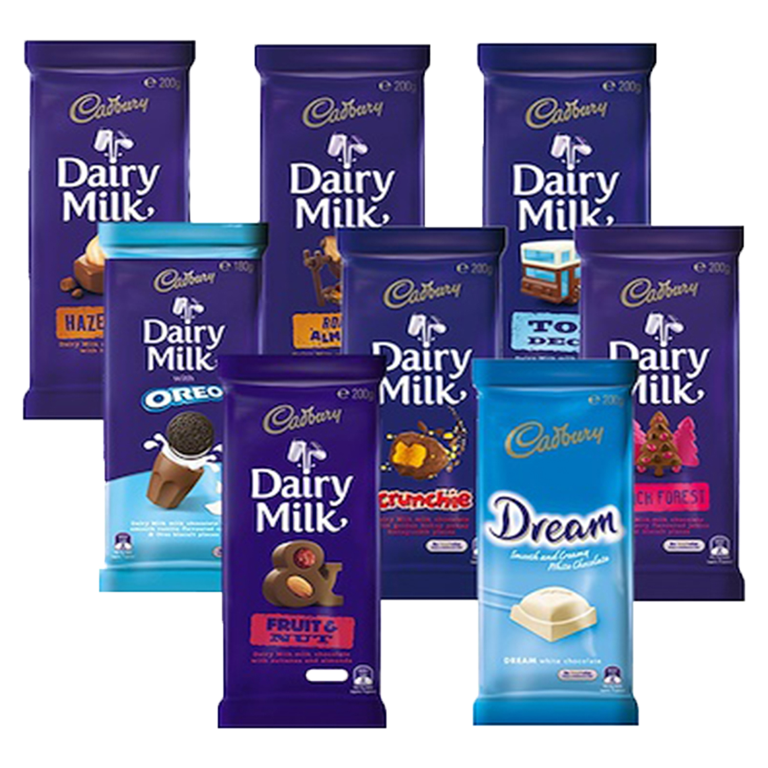 Cadbury Dairy Milk - Assorted 180/200g