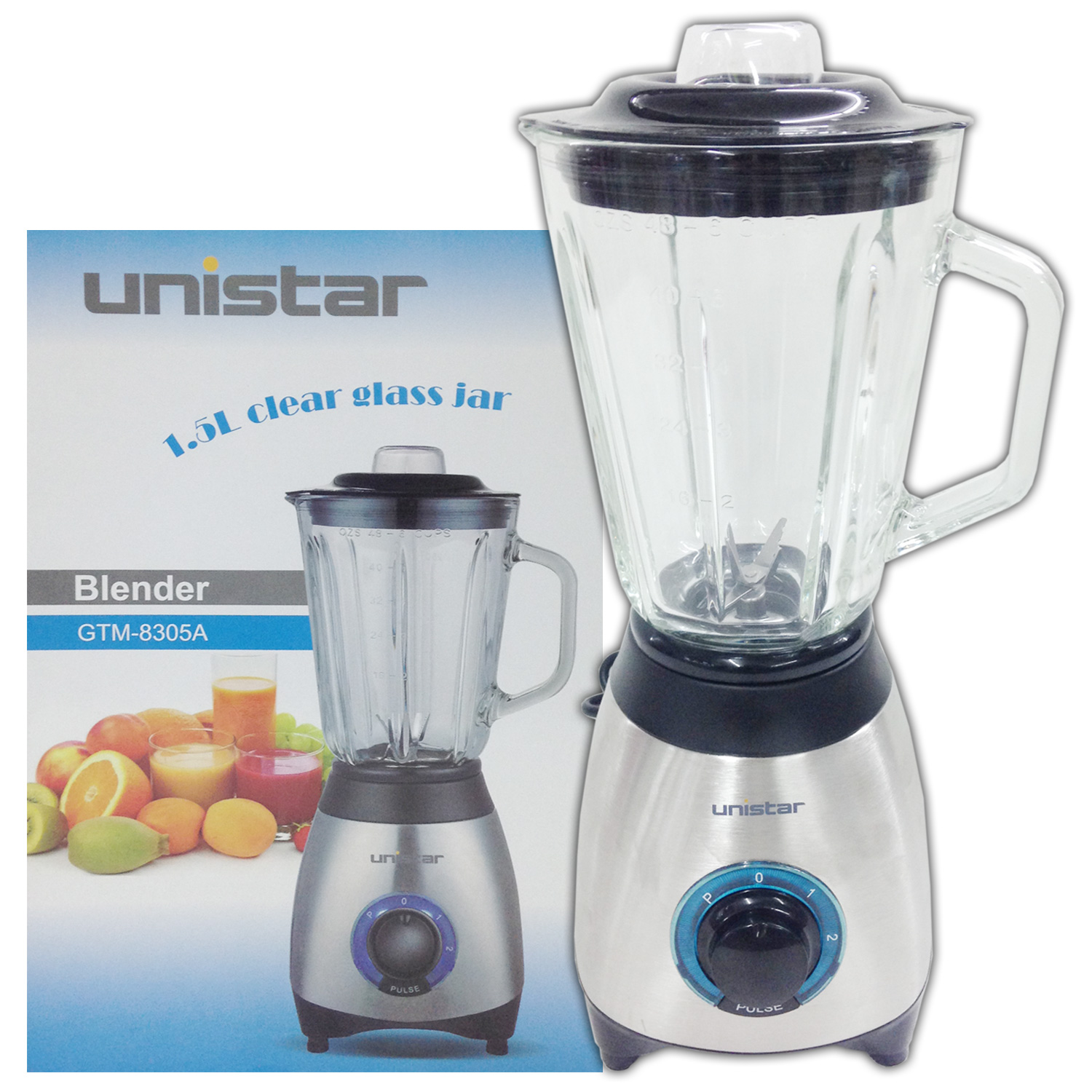 Unistar 2 in 1 Blender 1.5Ltrs (GTM-8322)