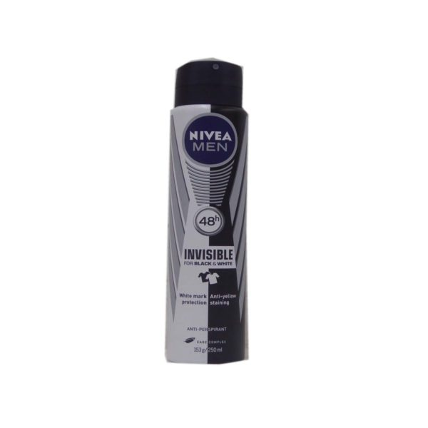 Nivea For Men Anti-Perspirant Spray Invisible Black & White 250ml