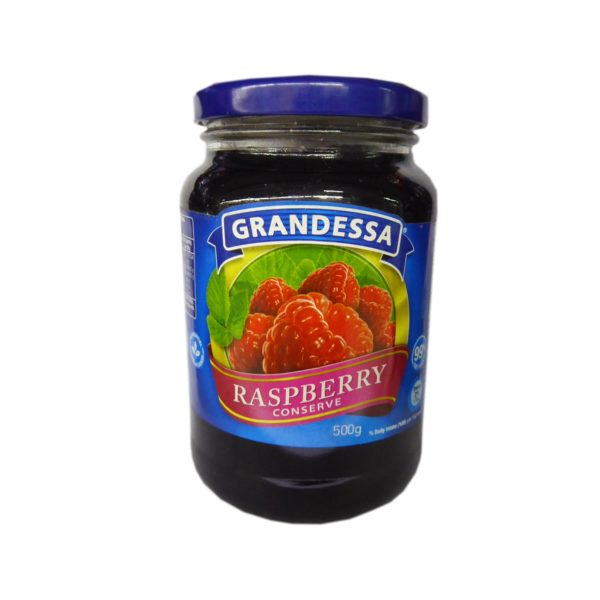 Grandessa Real Fruit Jam – Raspberry 500g