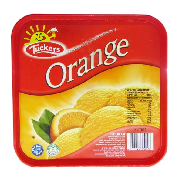 Tuckers Ice Cream - Orange 2ltr