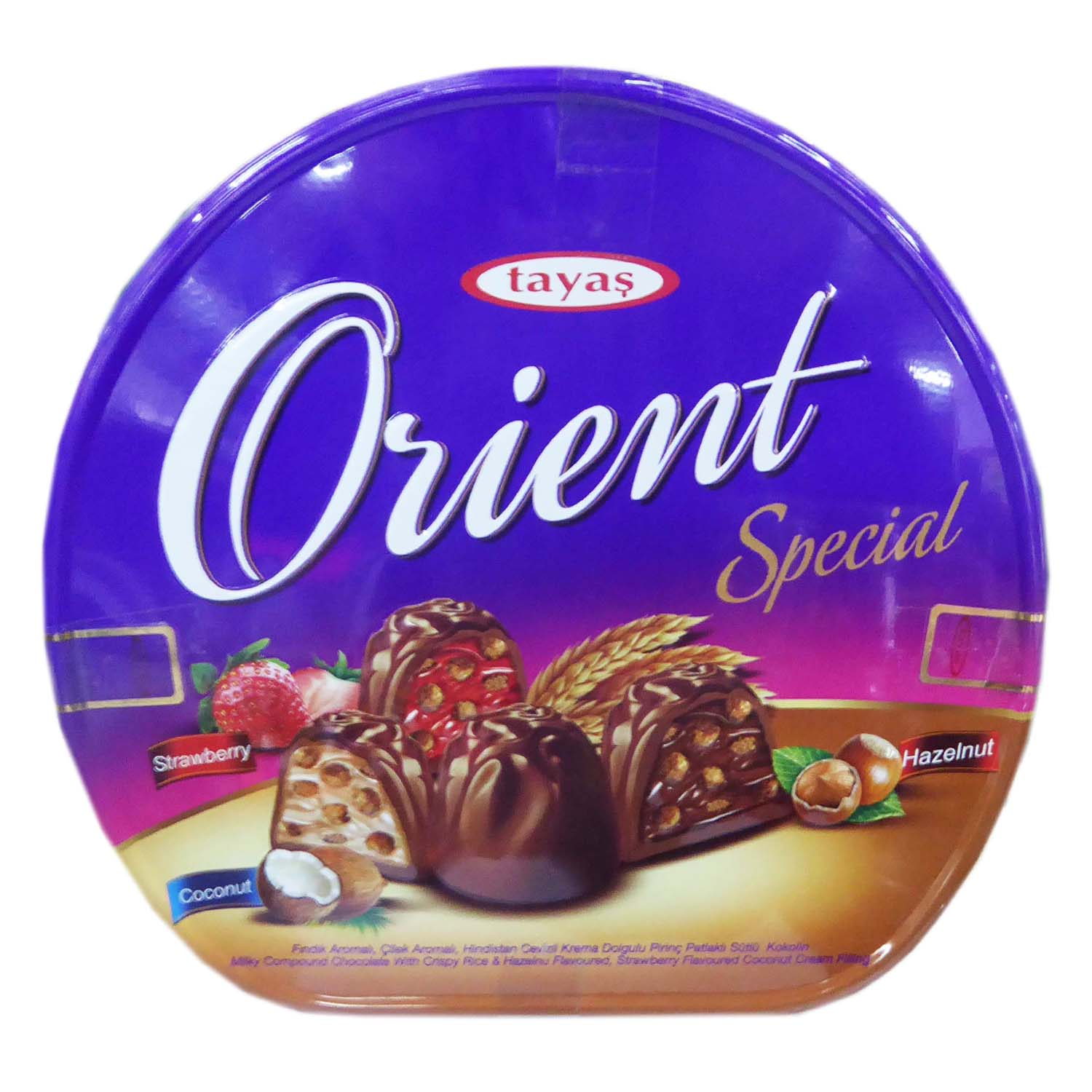 Orient Truffle Strawberry / Hazelnut / Coconut - Tin 600g