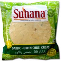 Suhana Garlic-Green Chilli Crisps 200g