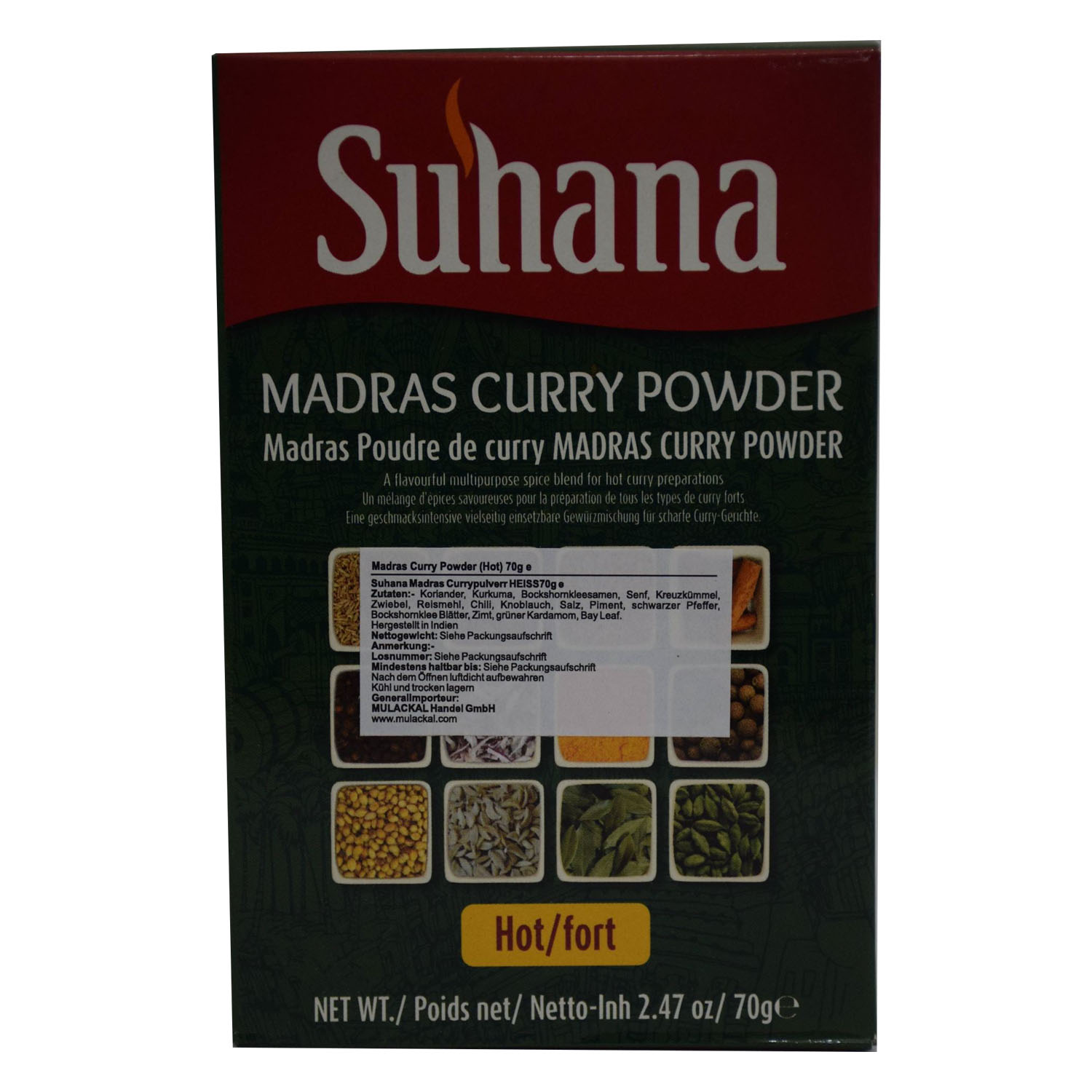 Suhana Madras Curry Powder (Hot) 70g