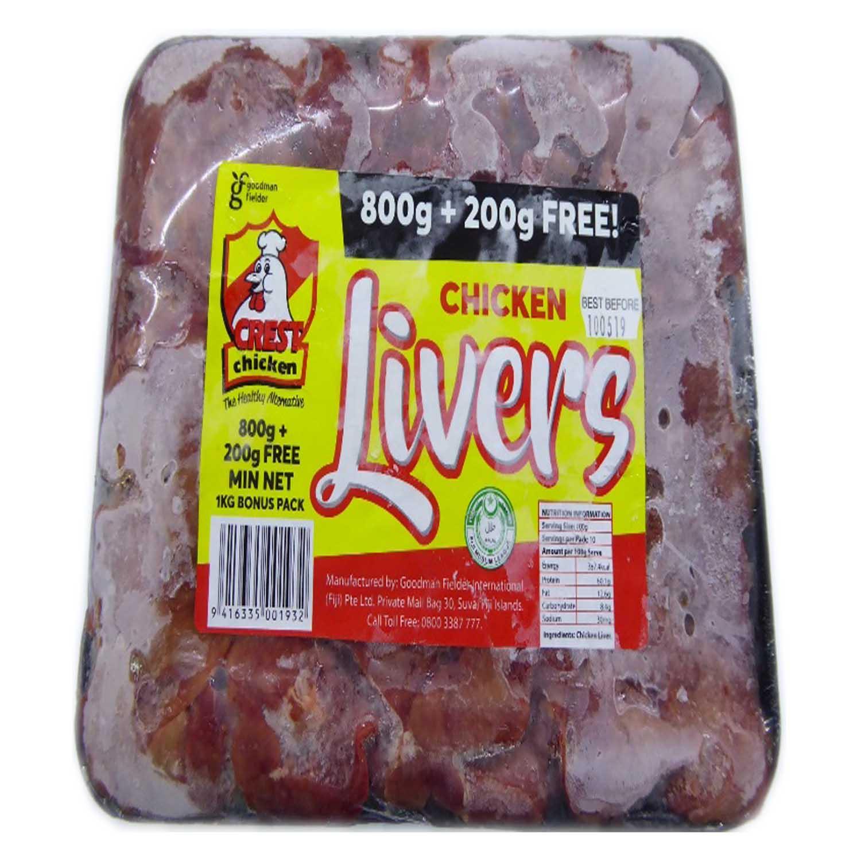 Crest Chicken Liver 500g