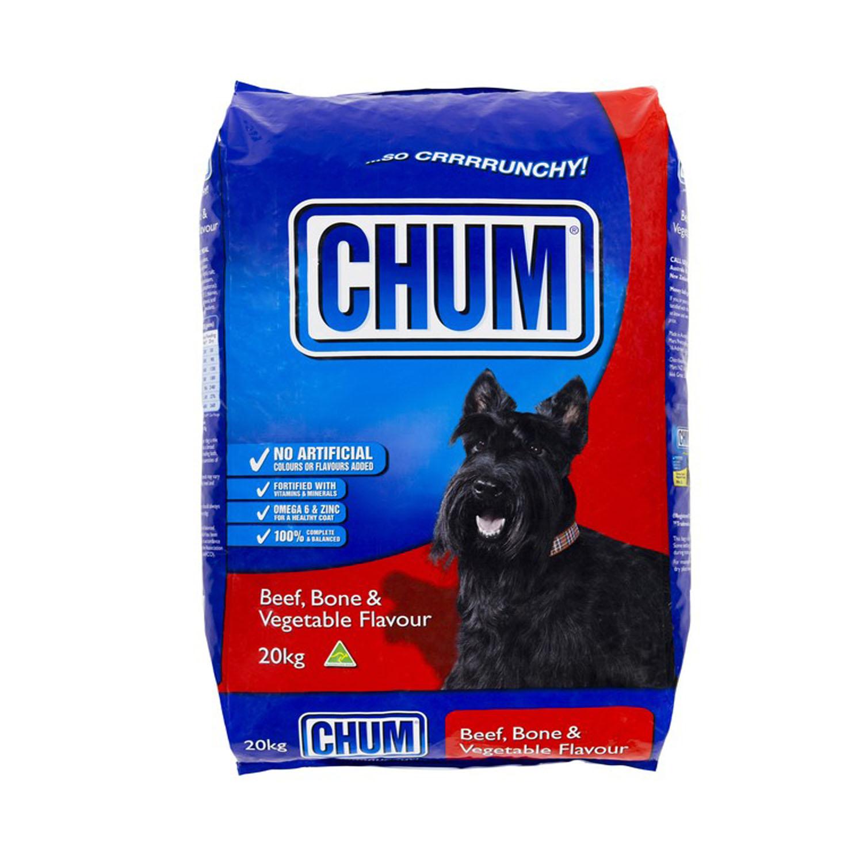 Chum Crunchy Beef Bone/Veg 20kg