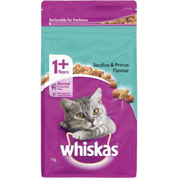 Whiskas Adult Sardine/Prawn 1 kg