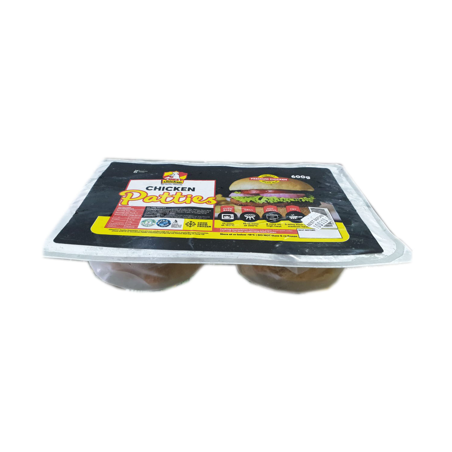 Crest Chicken Patties 600g