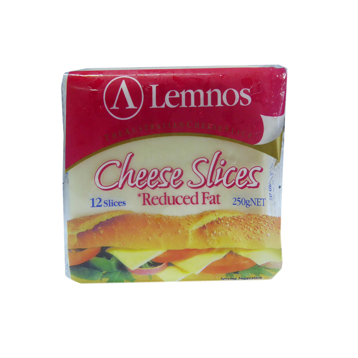 Lemnos Slice Cheese - Reduced Fat  12s 250g
