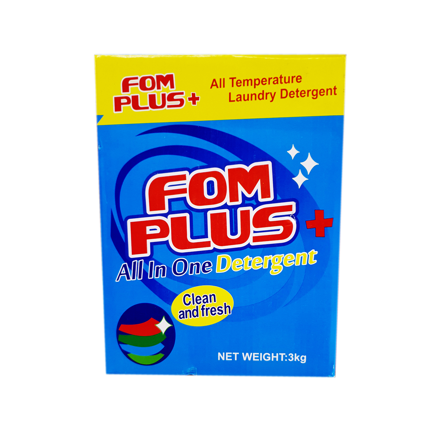 FOM + Plus Detergent Powder 3 KG