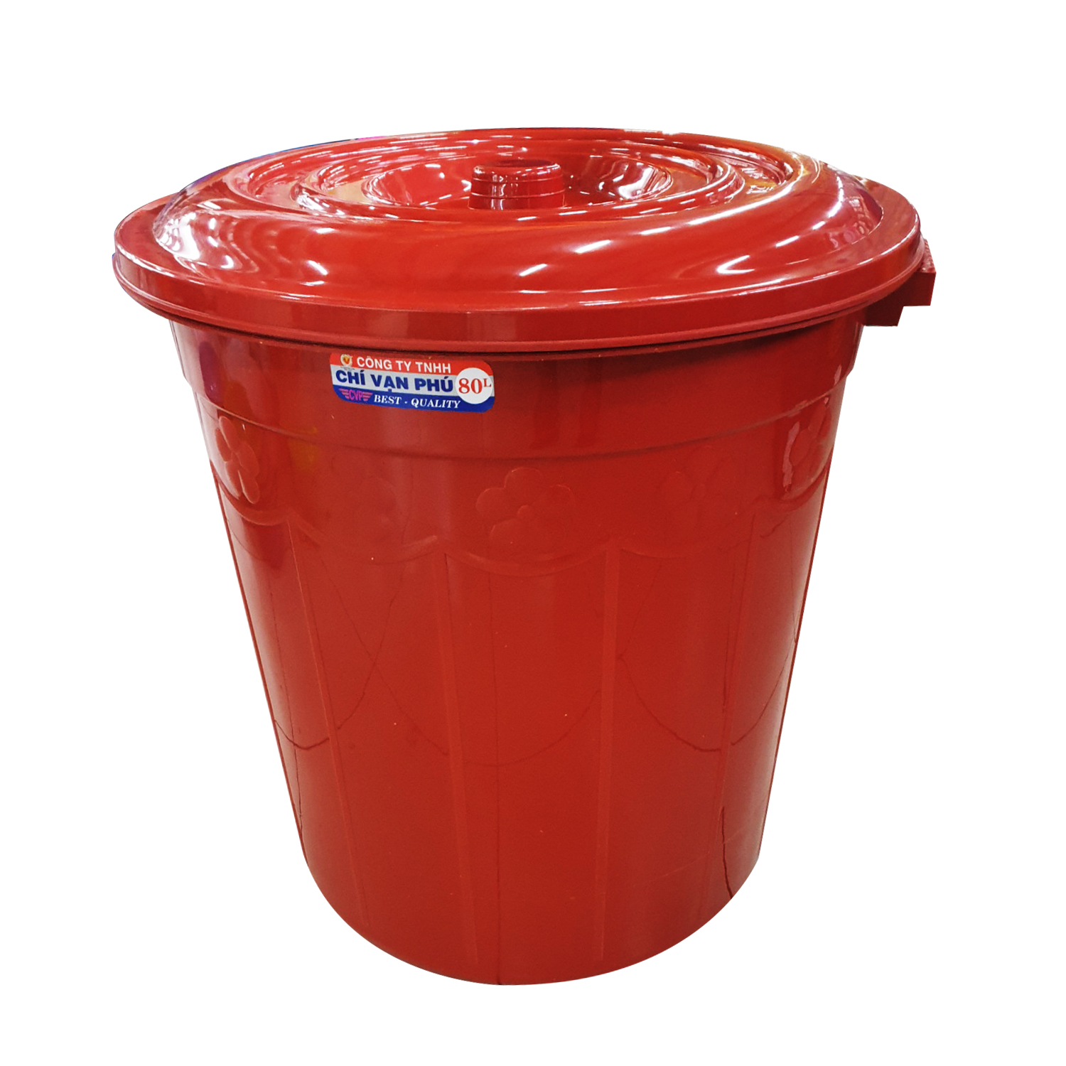80 Ltrs Plastic Bin with Lid #320.02.0460.71
