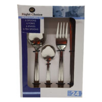 24pcs Stainless Steel Cutlery Set #31612029034