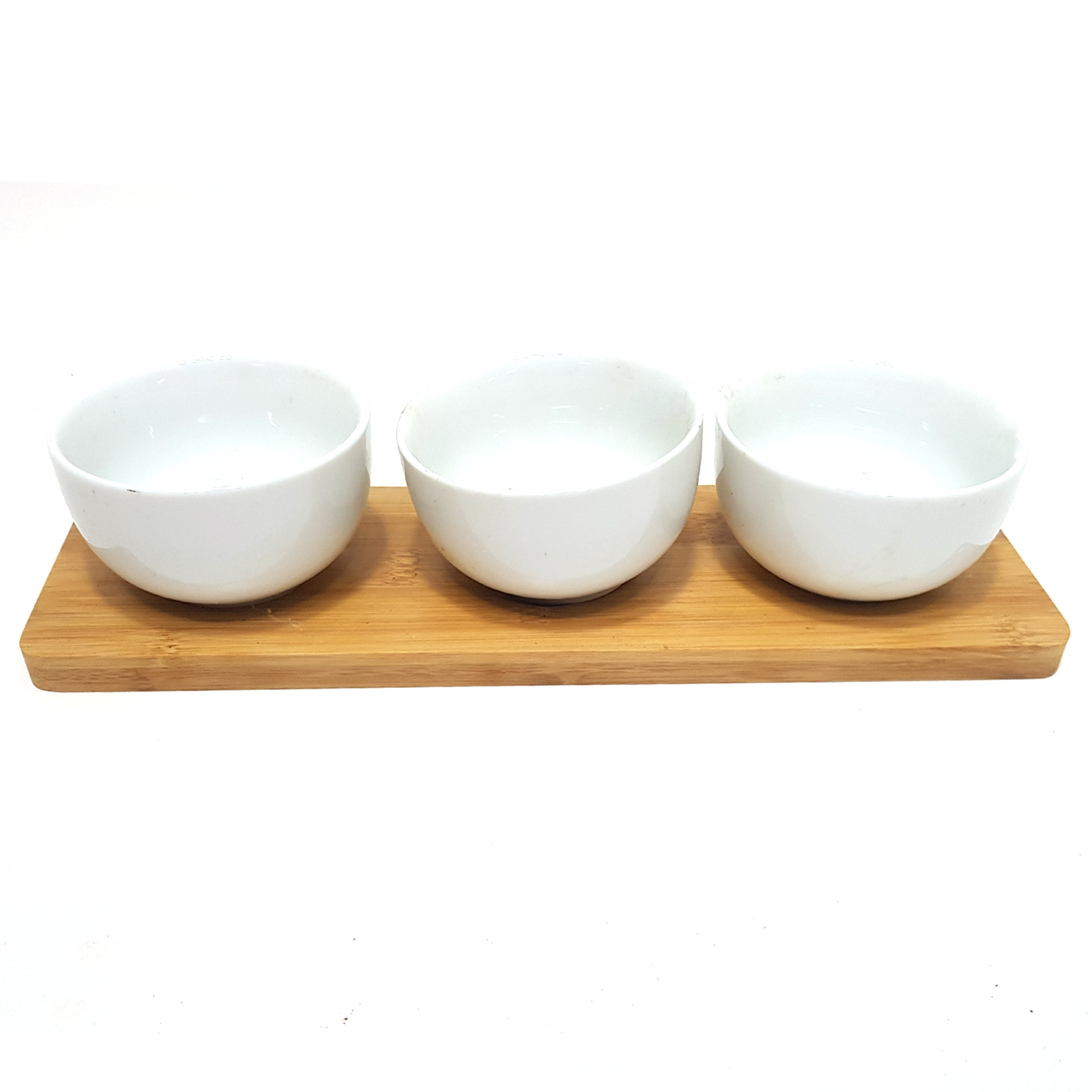 3.5in x 3pcs Round Bowl Set With Wooden Stand #31907070099