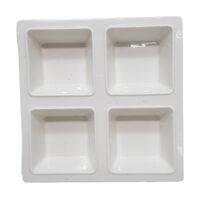8inch White 4 Division Square Plate #31907089099