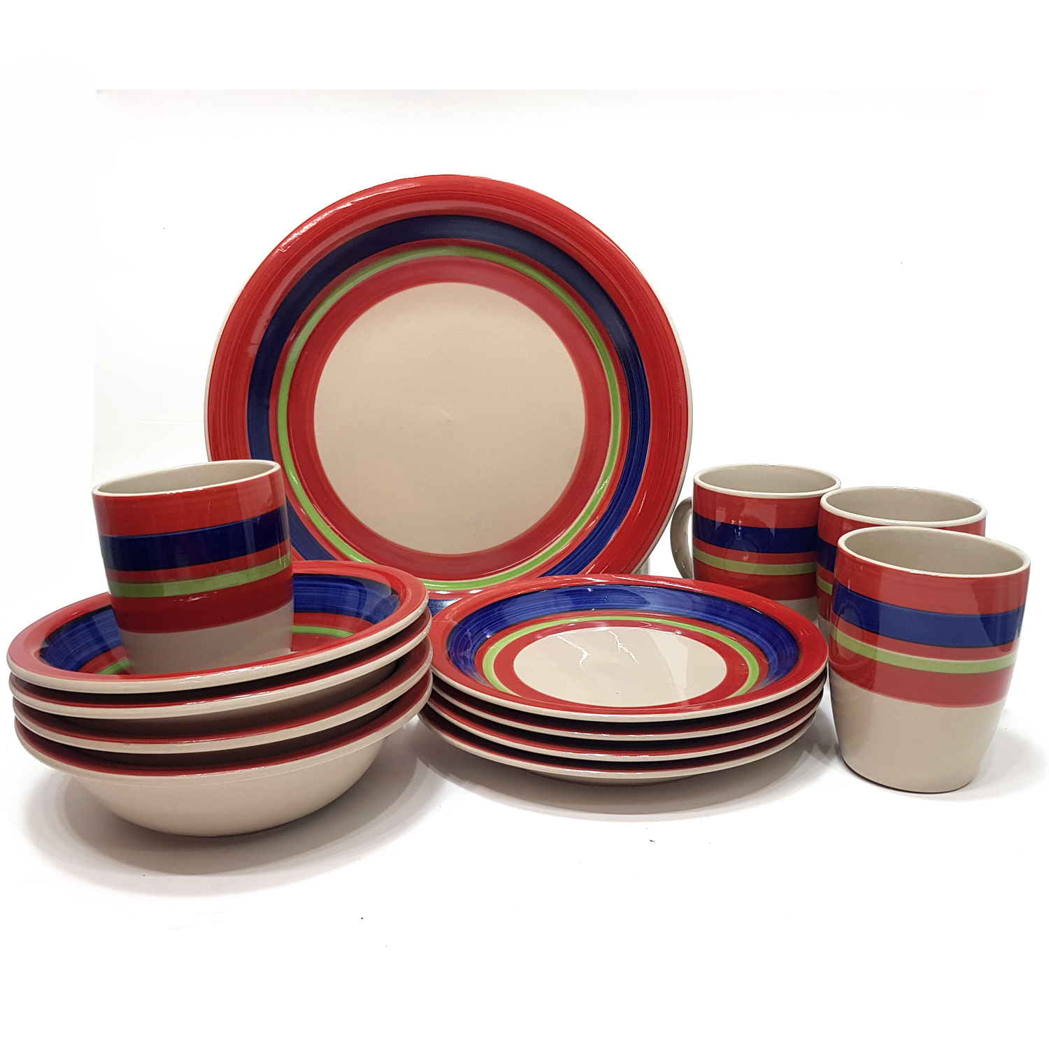 16pcs Decal Porcelain Dinner Set #31909001024