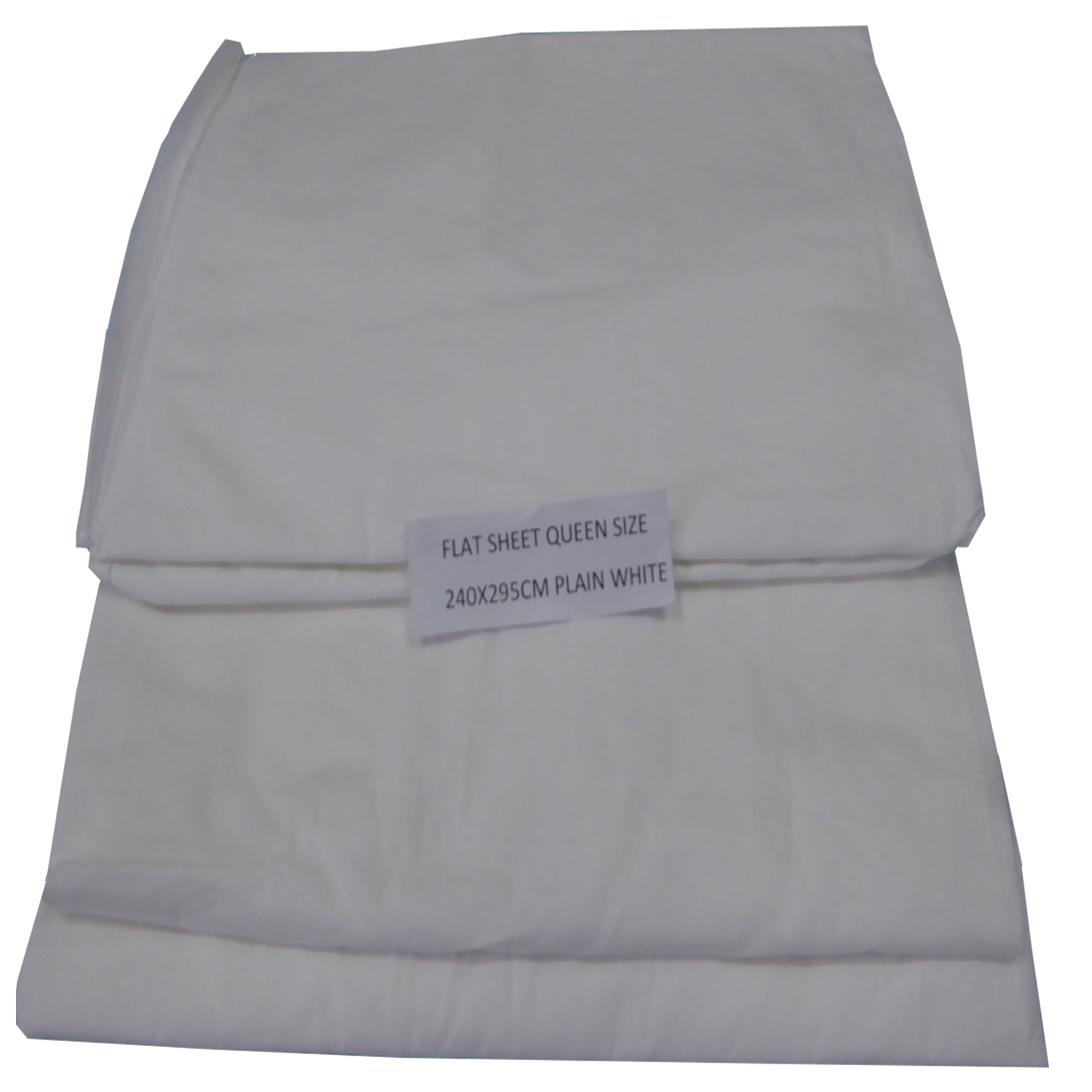 White Flat Sheet Queensbed 240x295cm #41808033011