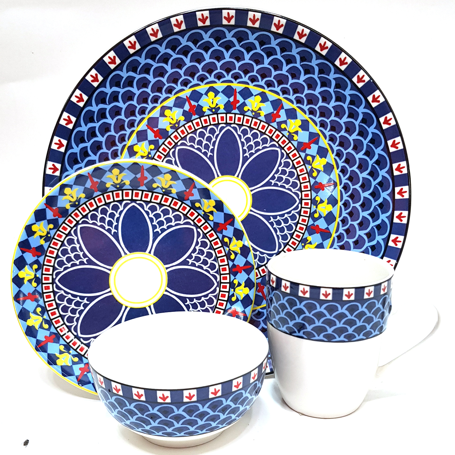 4pcs Dinner Set PTD Design - #9021