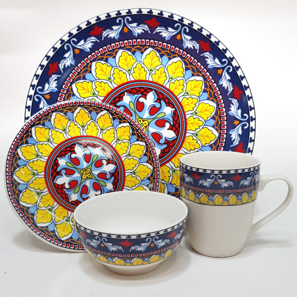 4pcs Dinner Set PTD Design - #9022