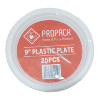 9inch Propack Plastic Plate 25's