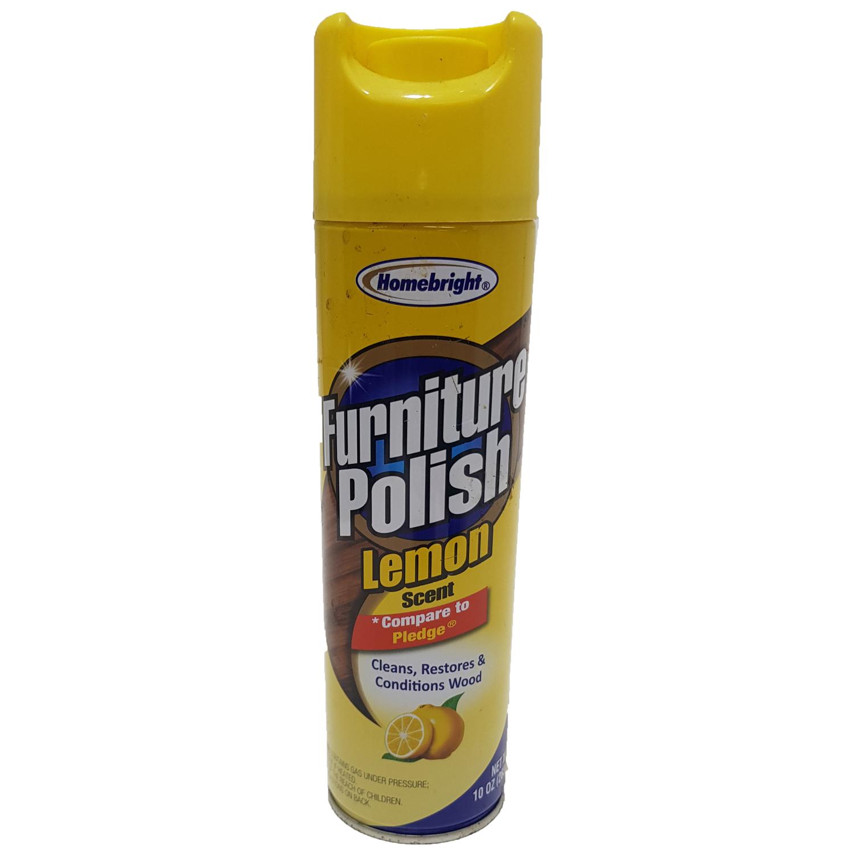 HOMEBRIGHT 10oz Furniture Polish - Lemon