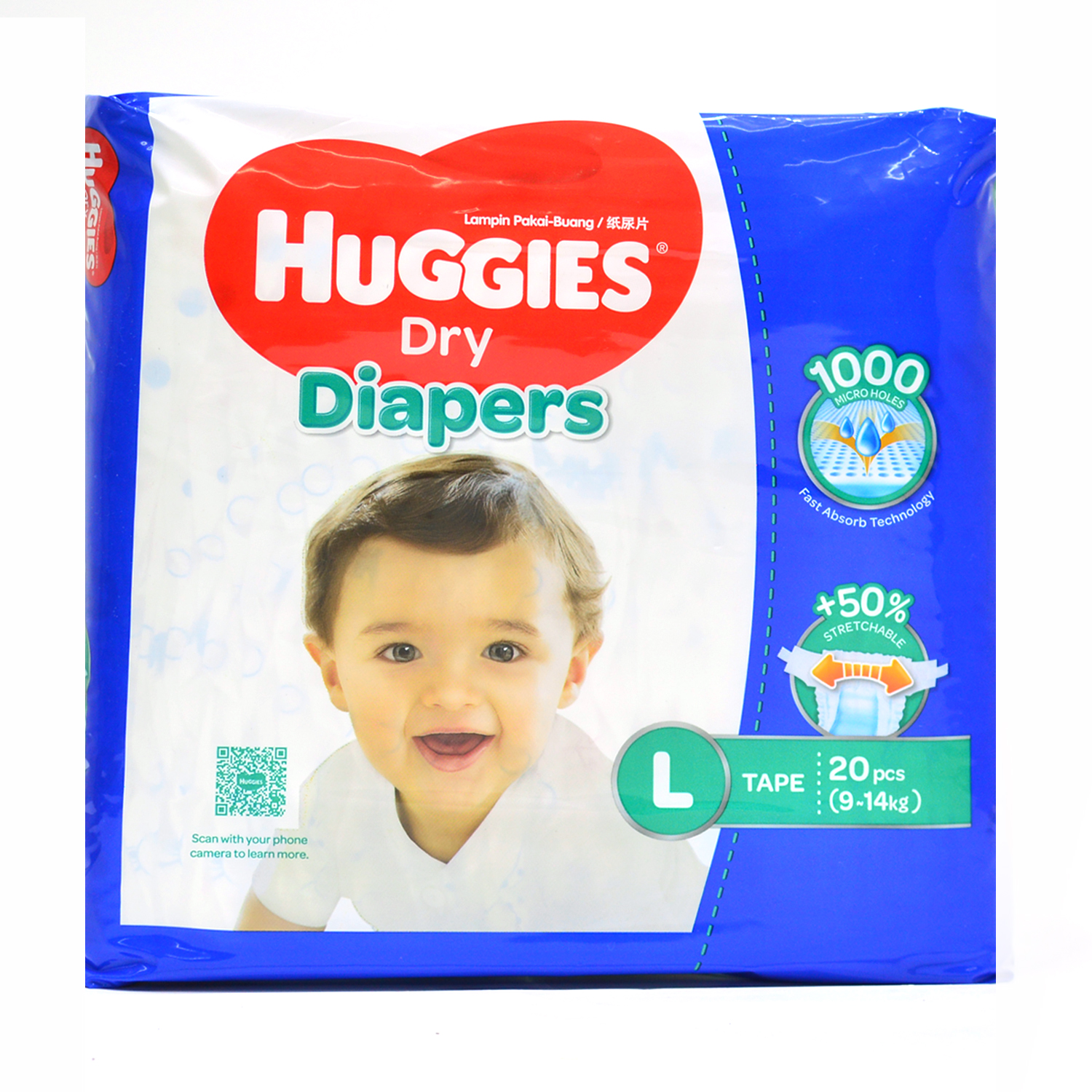 Huggies Diapers - Large	20's