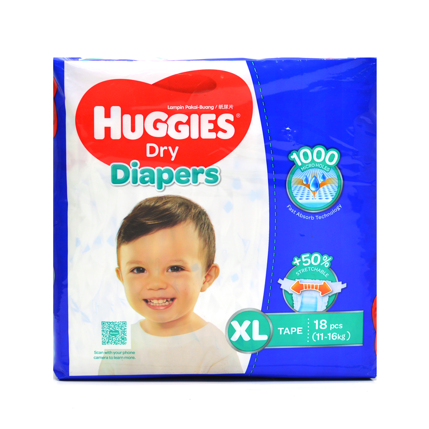 Huggies Diapers - X-Large 18's