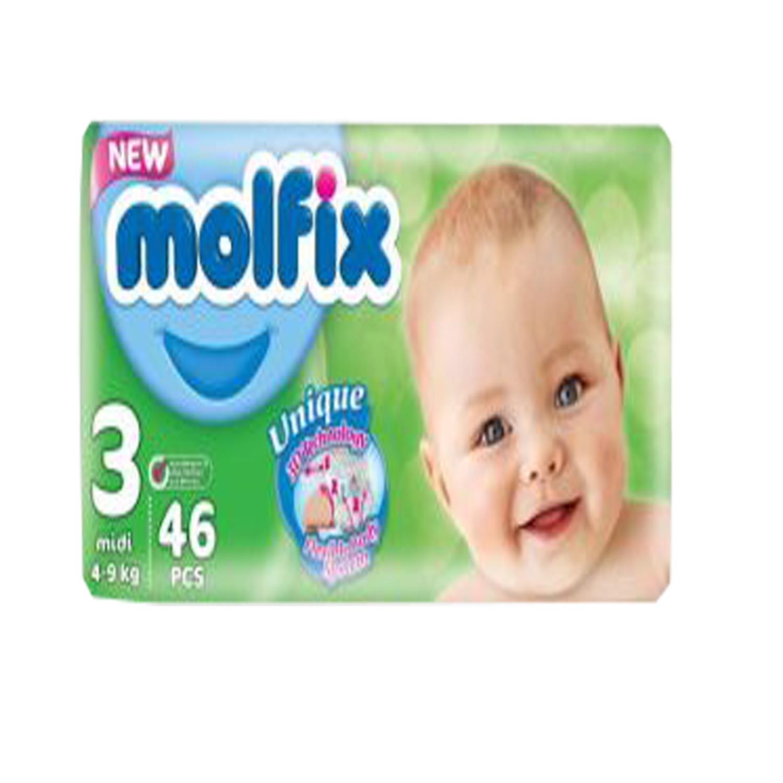 Molfix Baby Diapers Bulk Pack - Medium 46's