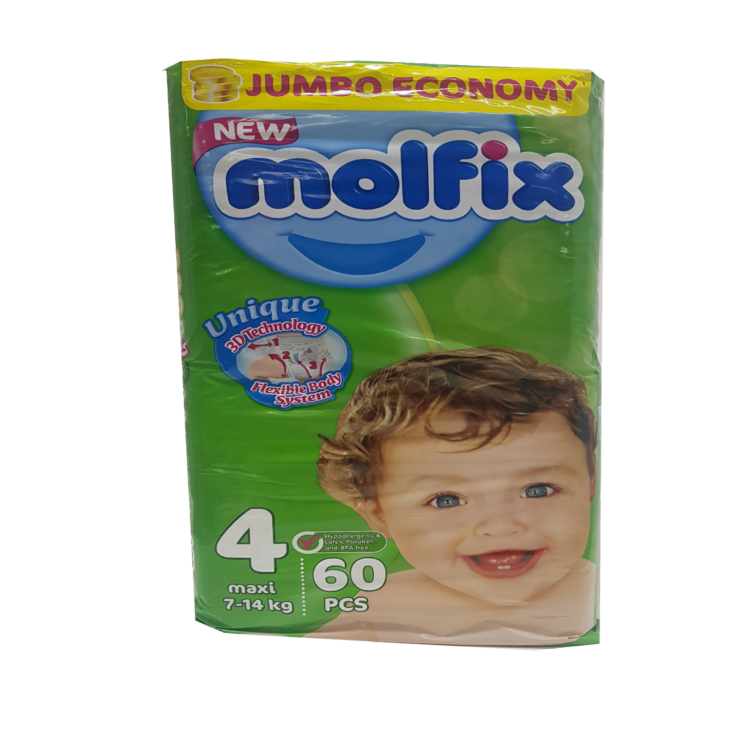 Molfix LARGE Diaper Jumbo Pack 60's