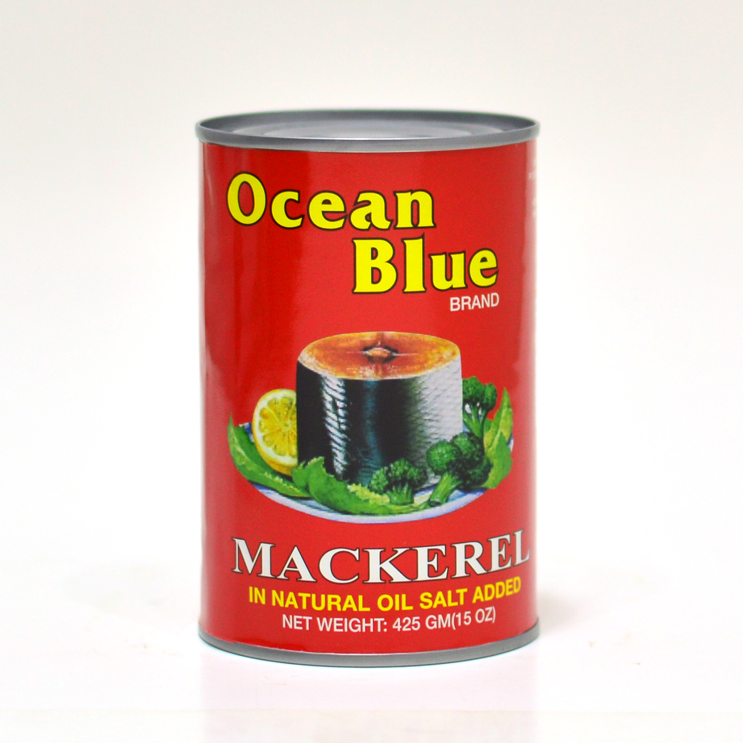 Ocean Blue Mackerel - Natural Oil	425g