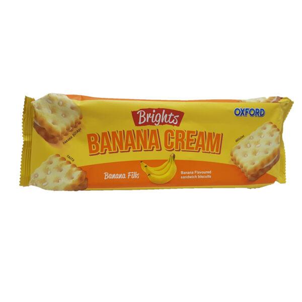 Oxford Brights Cream Biscuits - Banana 125g
