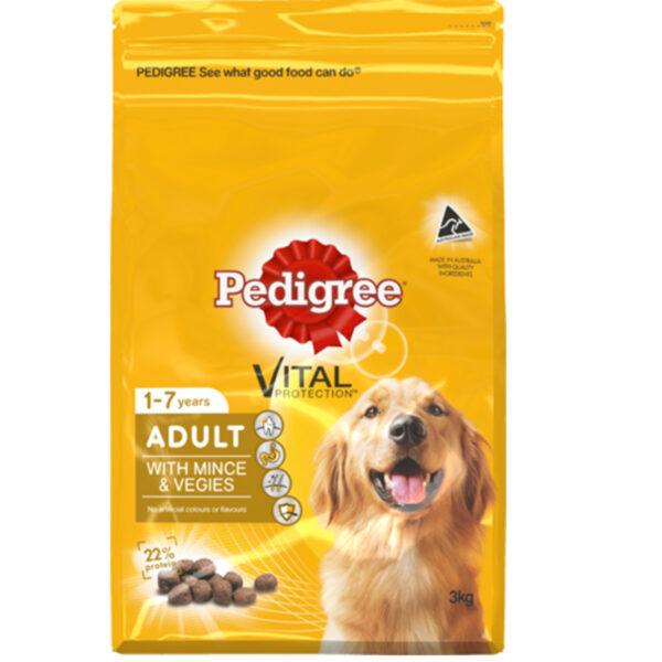 Pedigree Adult W-Mince & Vegies 3kg