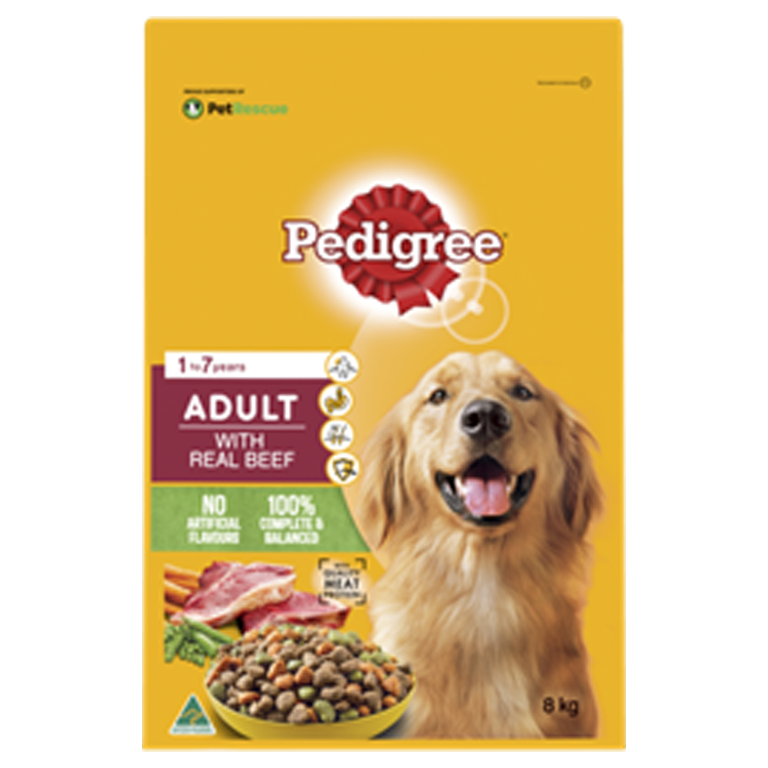 Pedigree Adult with Real Beef 8kg
