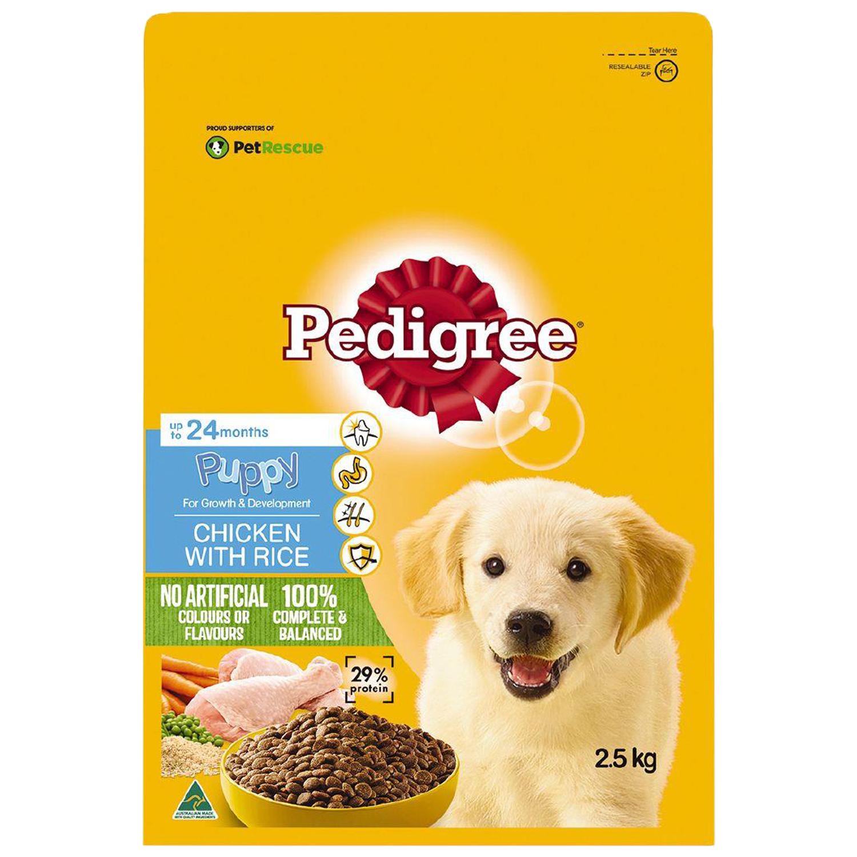 Pedigree Puppy Chicken with Rice  2.5kg