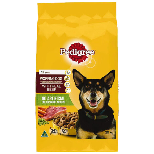 Pedigree Working Dog Formula Beef 20kg