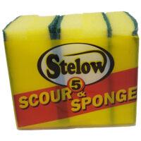 Stelow Scour N Sponge 5pack