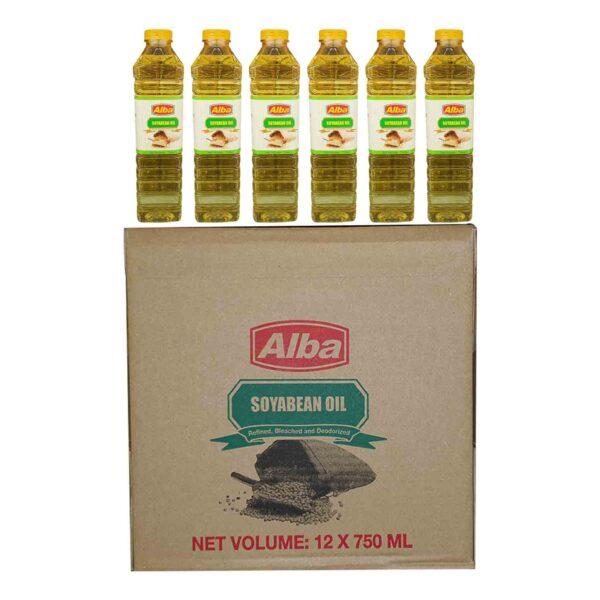 Alba Soyabean Oil 750ml x12 (Ctn)