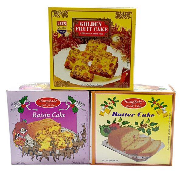 Lees Home Christmas Fruit Cake 600g Asst (Each)