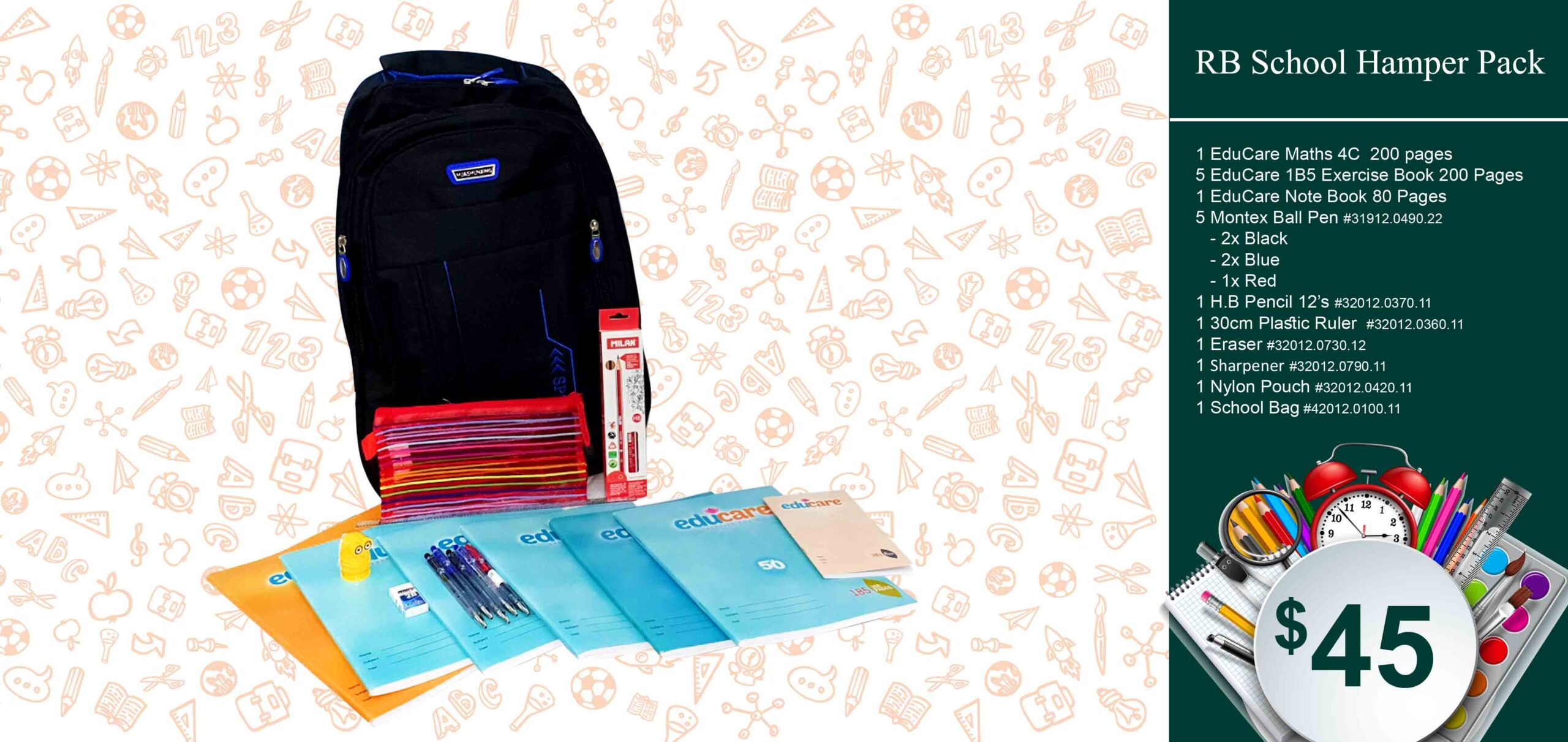 RB School Hamper Pack $45