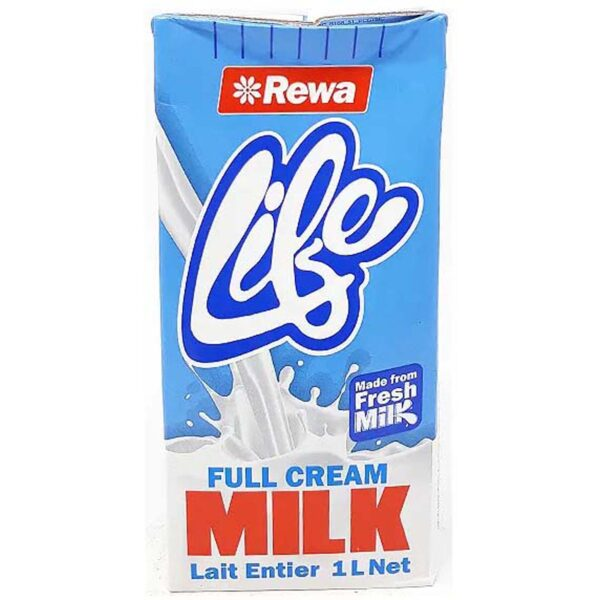 Rewa Life Full Cream Milk 1Ltr Blue Packet (Each)