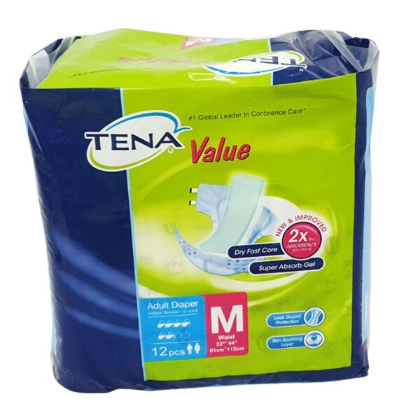 Tena Value Adult Diaper M-12s